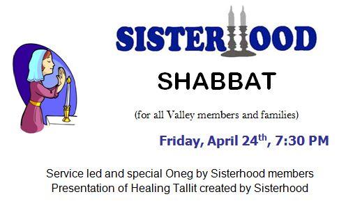 Sisterhood Shabbat 4_15